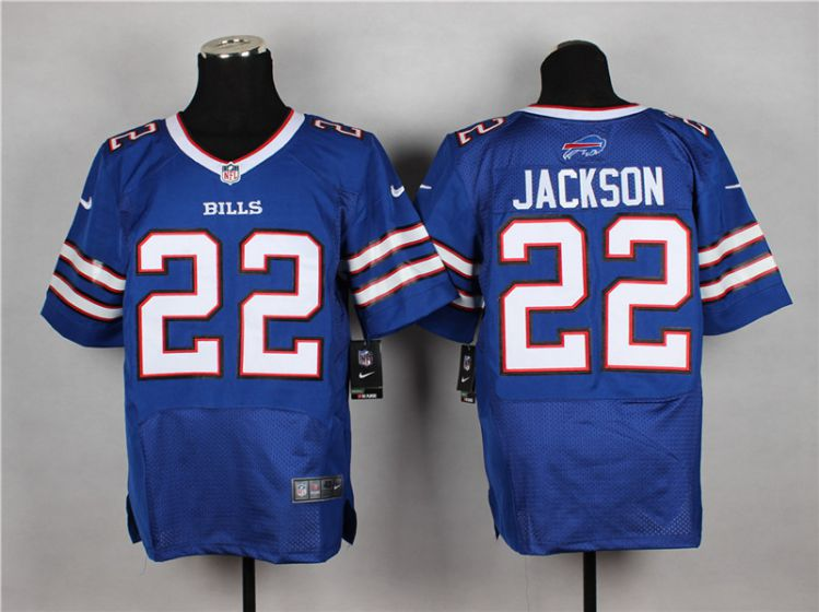 Men Buffalo Bills 22 Fred Jackson Blue Elite Nike NFL Jerseys