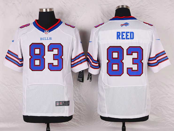 Men Buffalo Bills 83 Andre Reed White Elite Nike NFL Jerseys