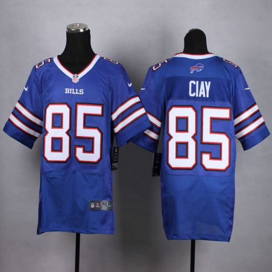 Men Buffalo Bills 85 Clay Blue Elite Nike NFL Jerseys