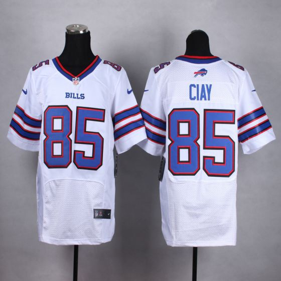 Men Buffalo Bills 85 Clay White Elite Nike NFL Jerseys