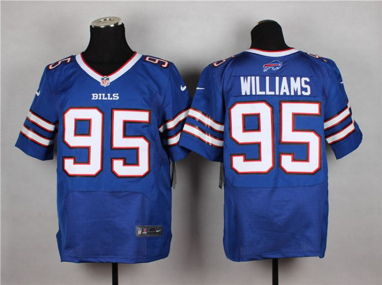Men Buffalo Bills 95 Mario Williams Blue Elite Nike NFL Jerseys