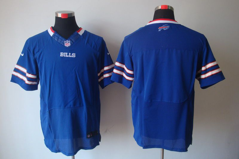 Men Buffalo Bills Blank Blue Elite Nike NFL Jerseys