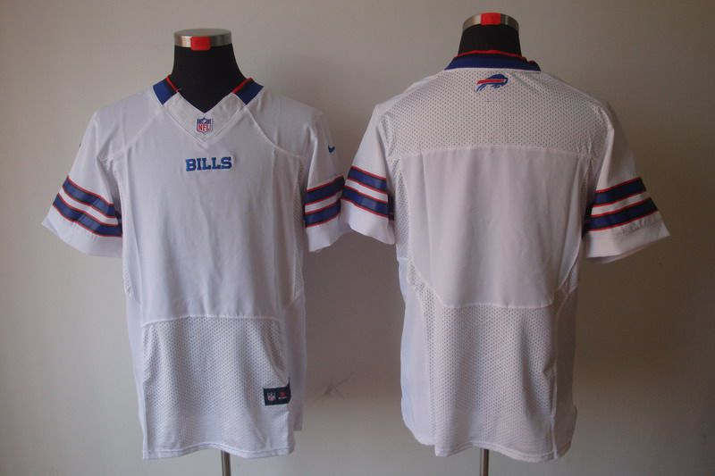 Men Buffalo Bills Blank White Elite Nike NFL Jerseys