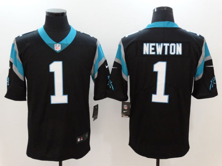Men Carolina Panthers 1 Newton Black Nike Vapor Untouchable Limited NFL Jerseys