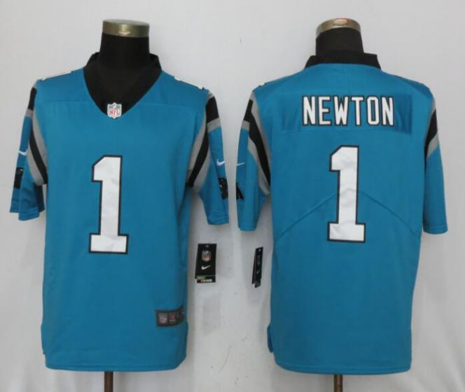 Men Carolina Panthers 1 Newton Blue Nike Vapor Untouchable Limited NFL Jerseys