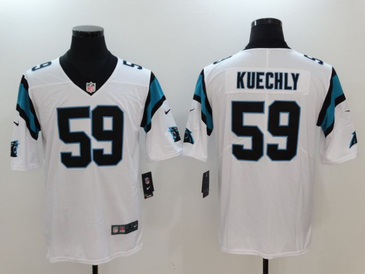 Men Carolina Panthers 59 Kuechly White Nike Vapor Untouchable Limited NFL Jerseys