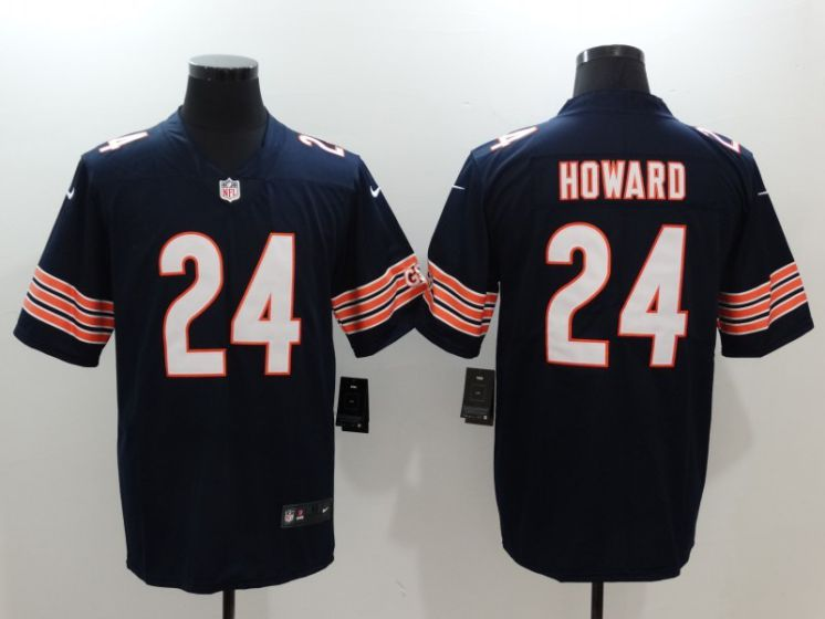 Men Chicago Bears 24 Jordan Howard Blue Nike Vapor Untouchable Limited NFL Jerseys