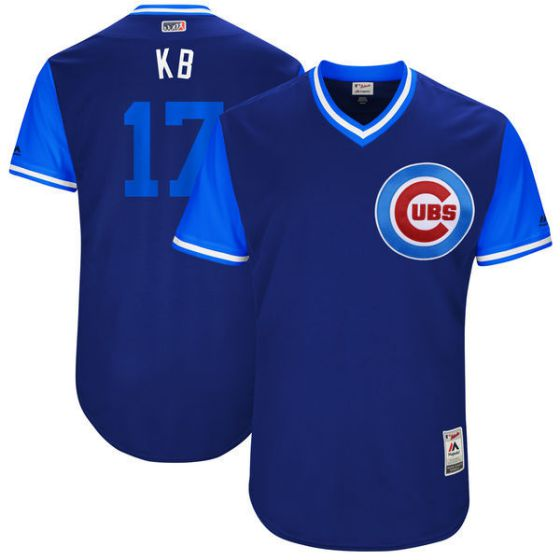 Men Chicago Cubs 17 Kb Blue New Rush Limited MLB Jerseys