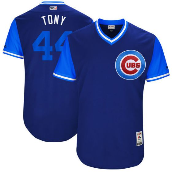 Men Chicago Cubs 44 Tony Blue New Rush Limited MLB Jerseys