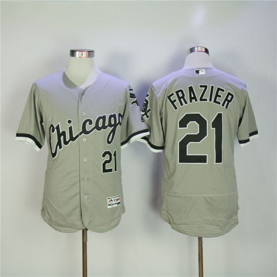 Men Chicago White Sox 21 Frazier Grey Elite MLB Jerseys