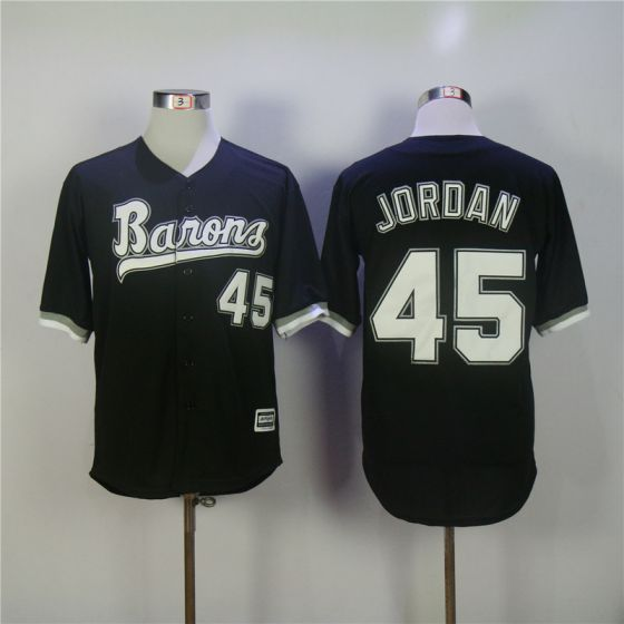 942c0d3ebdf4 ... Grey Men Chicago White Sox 45 Jordan Black MLB Jerseys Michael Jordan  Jersey ...
