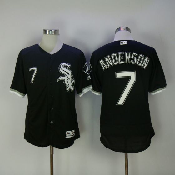Men Chicago White Sox 7 Anderson Black Elite MLB Jerseys