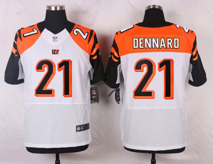 Men Cincinnati Bengals 21 Darqueze Dennard White Elite Nike NFL Jerseys