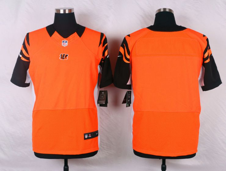 Men Cincinnati Bengals Blank Orange Elite Nike NFL Jerseys