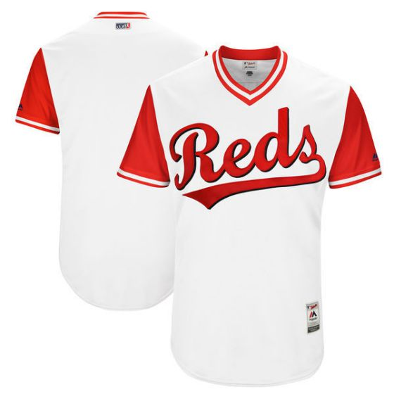Men Cincinnati Reds Blank White New Rush Limited MLB Jerseys