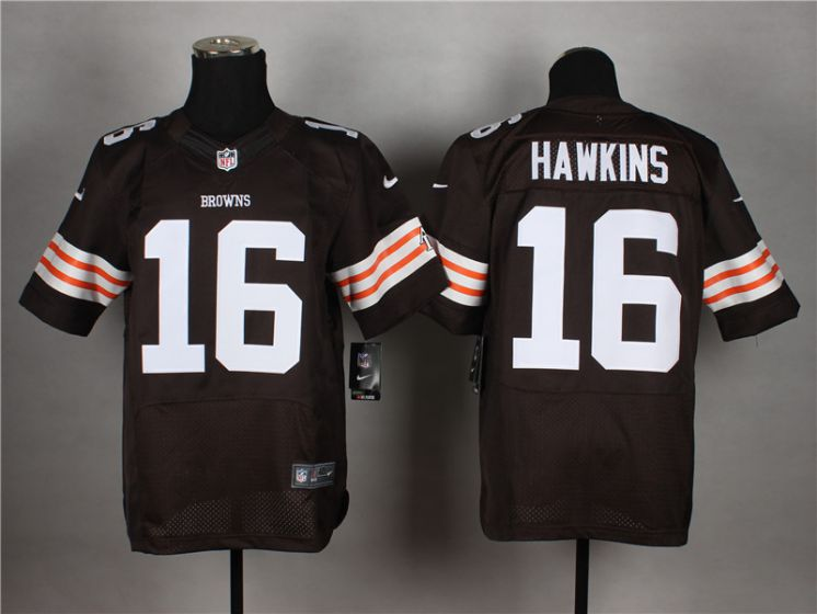 Men Cleveland Browns 16 Andrew Hawkins Brown Elite Nike NFL Jerseys
