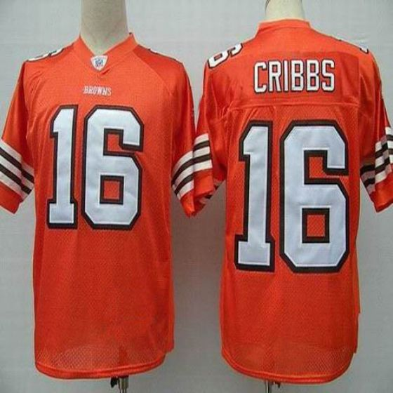Men Cleveland Browns 16 Cribbs Orange Elite Nike NFL Jerseys