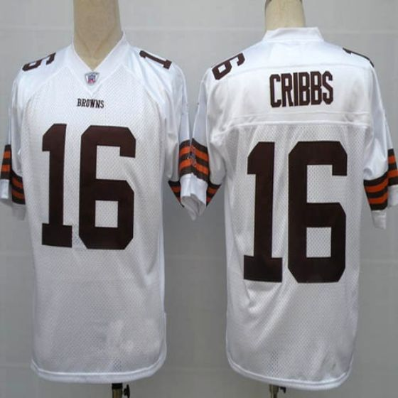 Men Cleveland Browns 16 Cribbs White Elite Nike NFL Jerseys