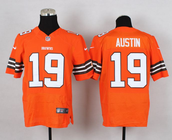 Men Cleveland Browns 19 Austin Orange Elite Nike NFL Jerseys