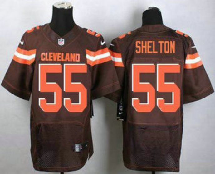 Men Cleveland Browns 55 ShelTon Brown Elite Nike NFL Jerseys