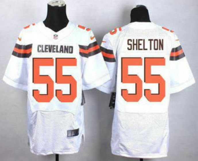 Men Cleveland Browns 55 Shel Ton White Elite Nike NFL Jerseys