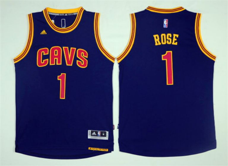 Men Cleveland Cavaliers 1 Rose Blue NBA Jerseys