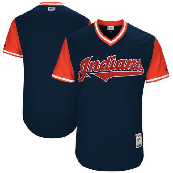 Men Cleveland Indians Blank Blue New Rush Limited MLB Jerseys