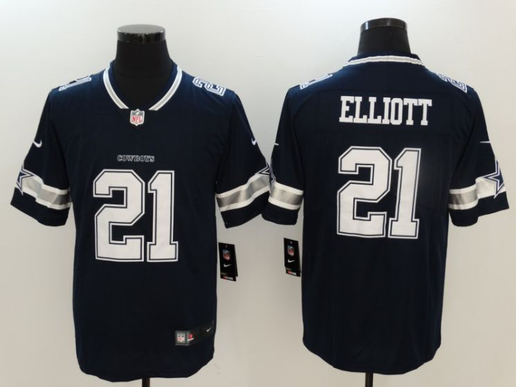 Men Dallas Cowboys 21 Elliott Blue Nike Vapor Untouchable Limited NFL Jerseys