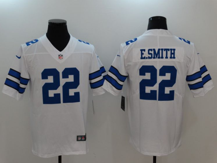 Men Dallas Cowboys 22 E.Smith White Nike Vapor Untouchable Limited NFL Jerseys