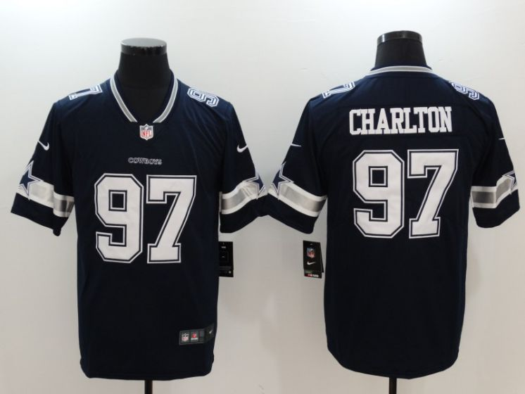 Men Dallas Cowboys 97 Taco Charlton Blue Nike Vapor Untouchable Limited NFL Jerseys
