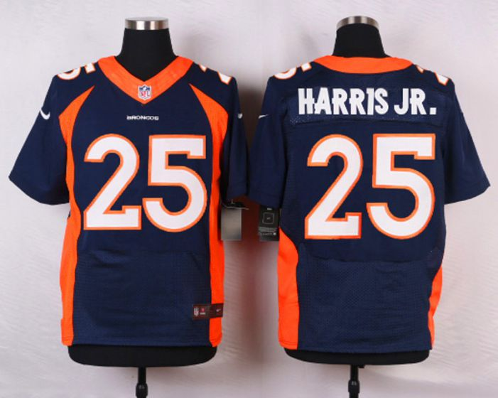 Men Denver Broncos 25 Chris Harris Jr Blue Elite Nike NFL Jerseys