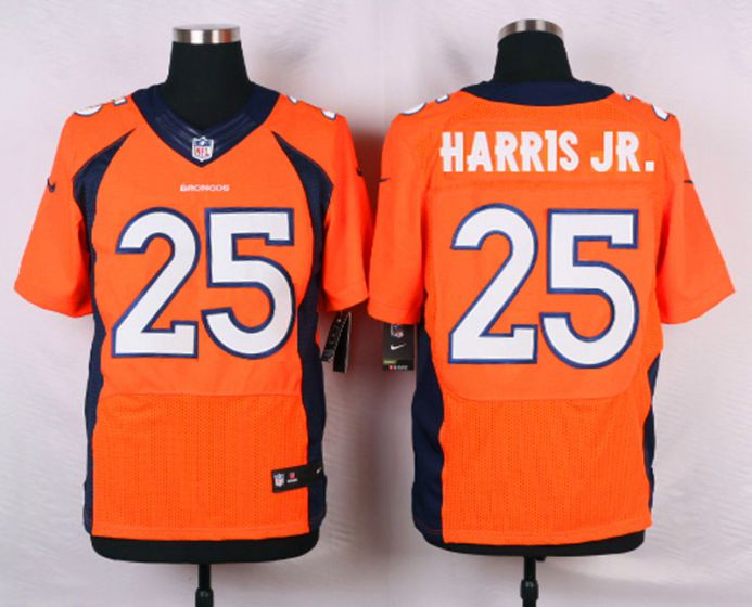 Men Denver Broncos 25 Chris Harris Jr Orange Elite Nike NFL Jerseys