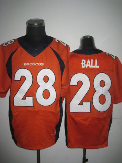 Men Denver Broncos 28 Montee Ball Orange Elite Nike NFL Jerseys