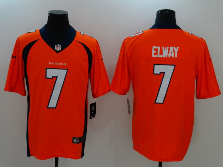 Men Denver Broncos 7 Elway Oragne Nike Vapor Untouchable Limited NFL Jerseys