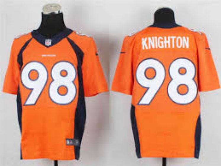Men Denver Broncos 98 Knighton Oragne Elite Nike NFL Jerseys