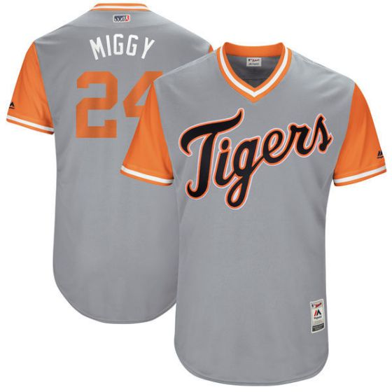 Men Detroit Tigers 24 Miggy Grey New Rush Limited MLB Jerseys