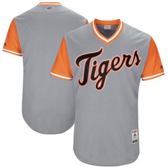 Men Detroit Tigers Blank Grey New Rush Limited MLB Jerseys
