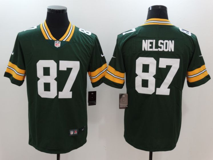 Men Green Bay Packers 87 Nelson Green Nike Vapor Untouchable Limited NFL Jerseys