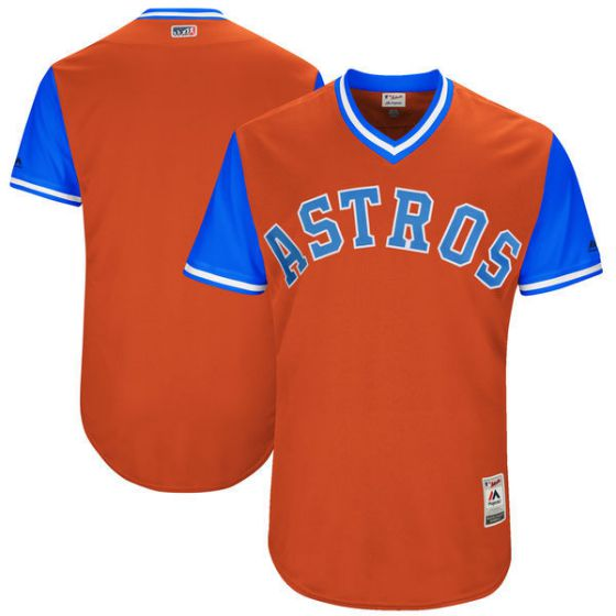 Men Houston Astros Blank Orange New Rush Limited MLB Jerseys