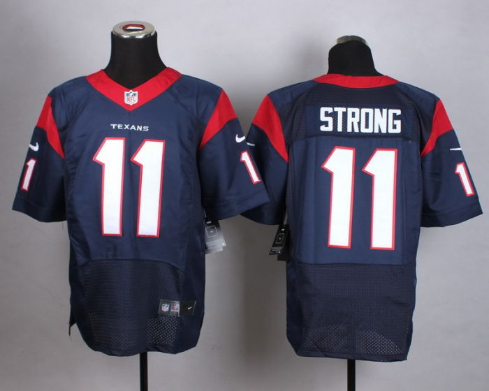 Men Houston Texans 11 Strong Blue Elite Nike NFL Jerseys
