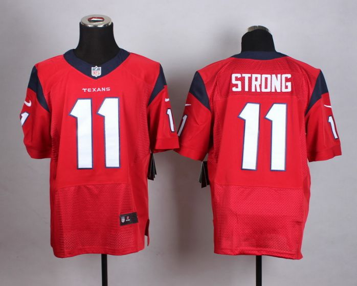 Men Houston Texans 11 Strong Red Elite Nike NFL Jerseys