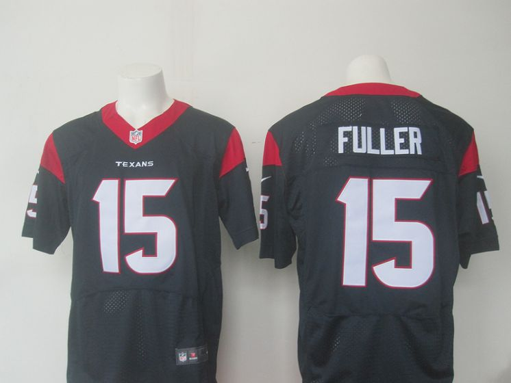Men Houston Texans 15 Fuller Blue Elite Nike NFL Jerseys