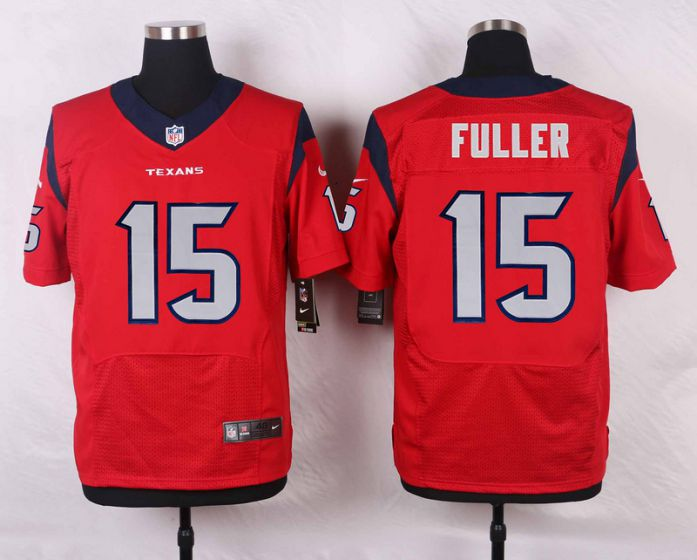 Men Houston Texans 15 Fuller Red Elite Nike NFL Jerseys