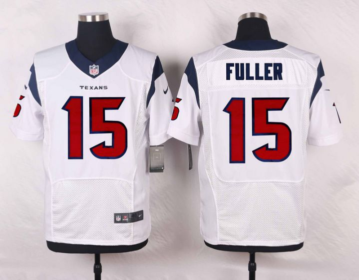 Men Houston Texans 15 Fuller White Elite Nike NFL Jerseys