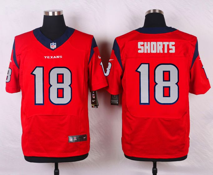 Men Houston Texans 18 Cecil Shorts III Red Elite Nike NFL Jerseys