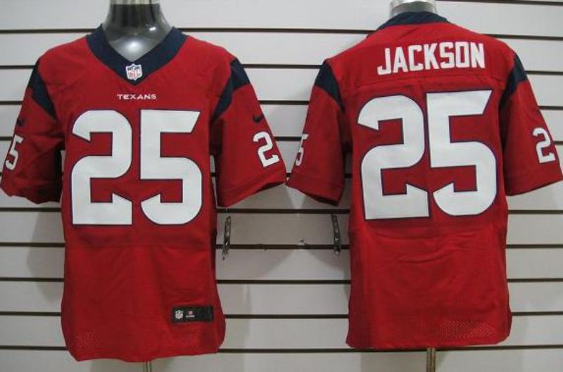 Men Houston Texans 25 Kareem Jackson Red Elite Nike NFL Jerseys