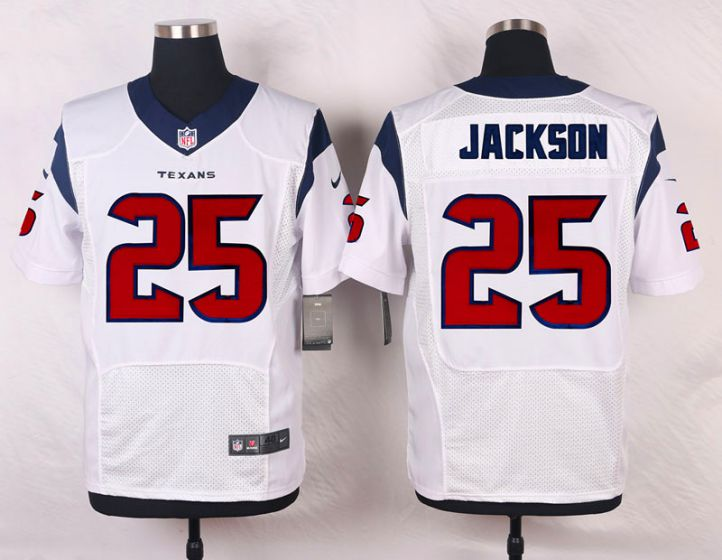 Men Houston Texans 25 Kareem Jackson White Elite Nike NFL Jerseys