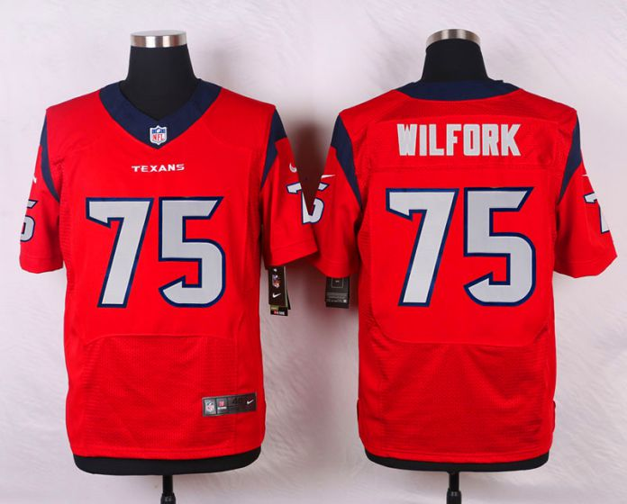 Men Houston Texans 75 Vince Wilfork Red Elite Nike NFL Jerseys