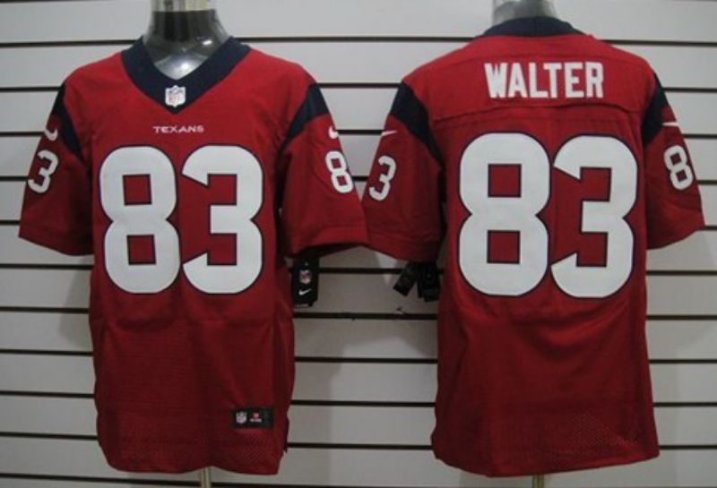 Men Houston Texans 83 Walter Red Elite Nike NFL Jerseys