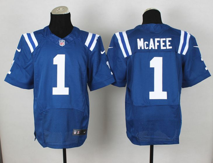Men Indianapolis Colts 1 Mcafee Blue Elite Nike NFL Jerseys